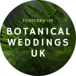 botanical weddings feature badge